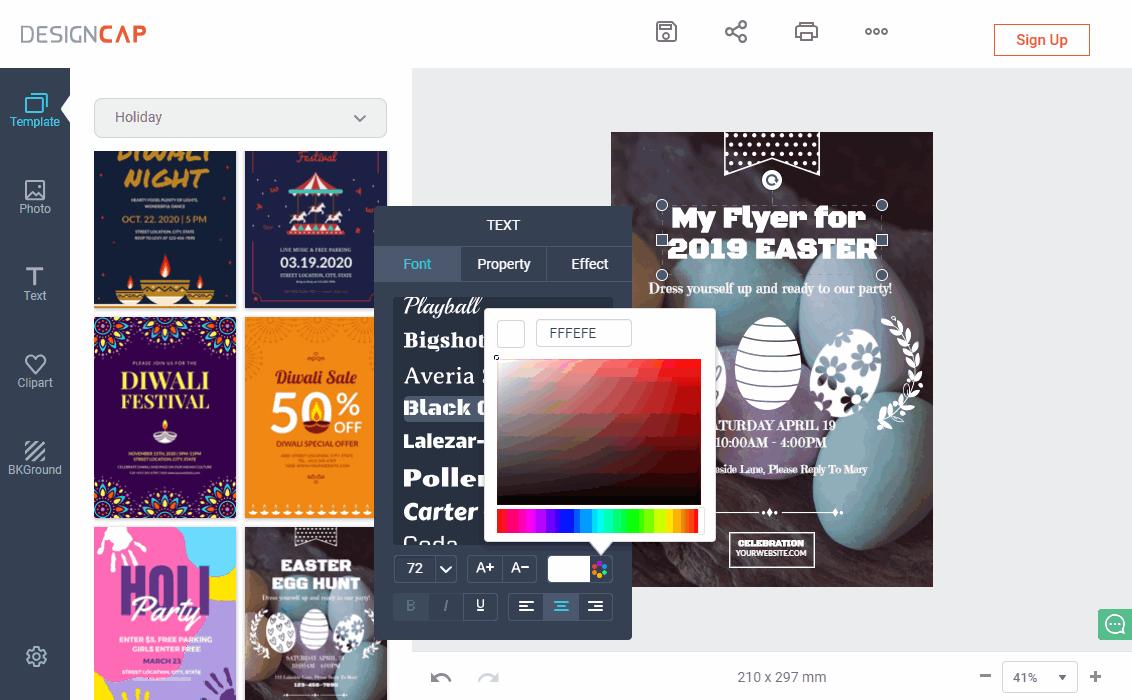 free online poster maker for business