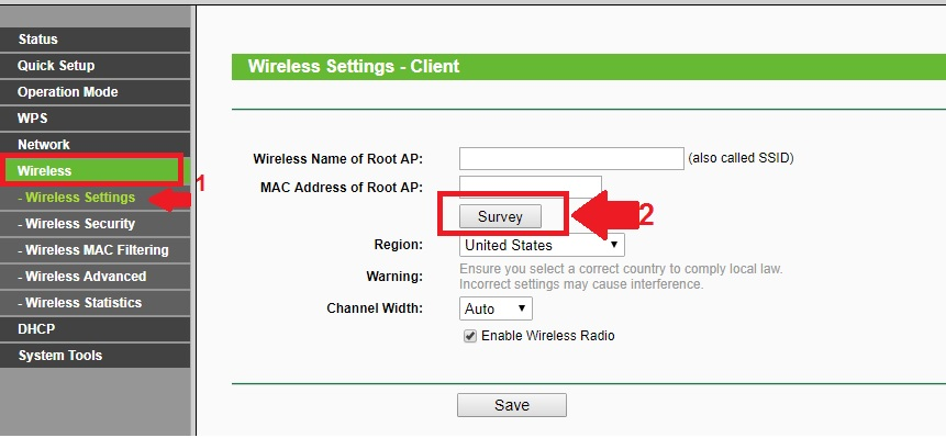 config a router to act as a client and access another wireless AP