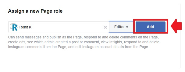 transfer one facebook page to another