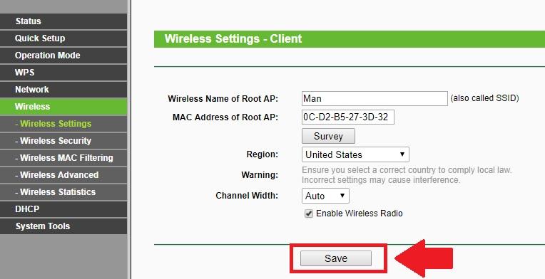 wireless client bridge