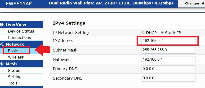 engenius wireless router ip address