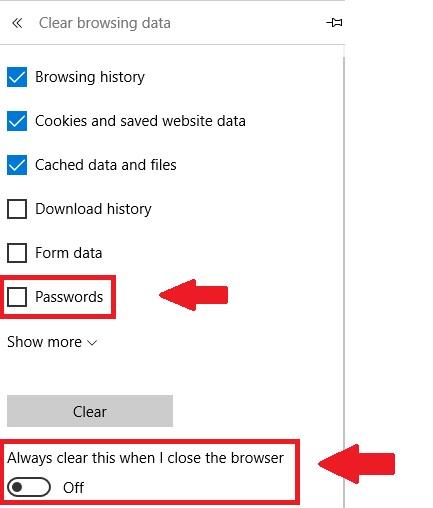 delete saved passwords safari browser