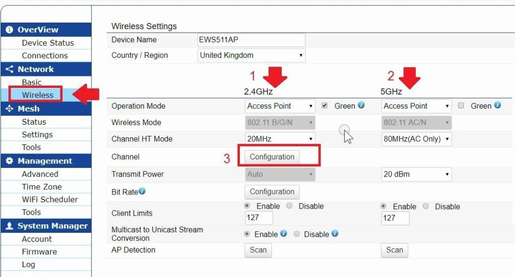 EnGenius Wireless EWS511AP Wall Plate Access Point
