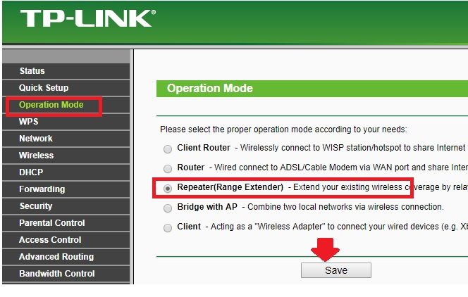 tp-link tl-wr743nd repeater in bridge mode