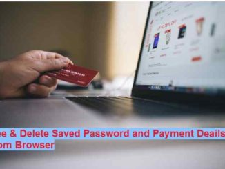 Delete Saved password on Google Chrome