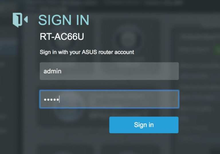 asus router login steps