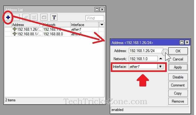mikrotik basic router setup