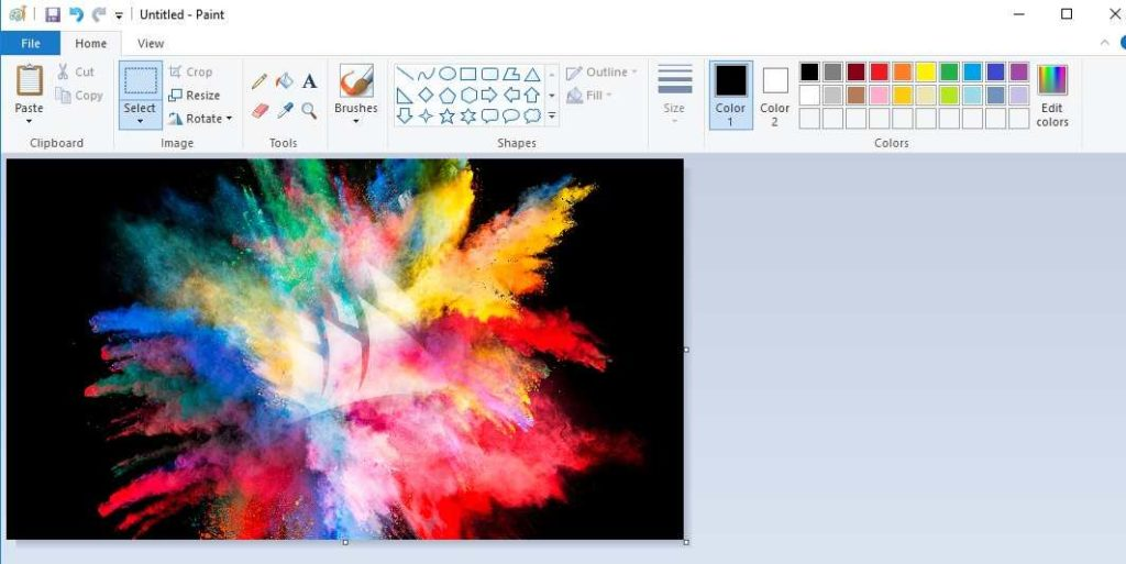 how to convert image format in windows paint