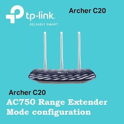 TP-Link AC750 Archer C20 Range Extender Mode Setup [Repeater]