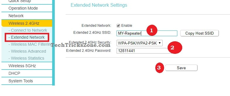 how to reset tp link range extender