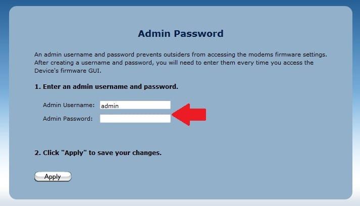 actiontec v1000h default password