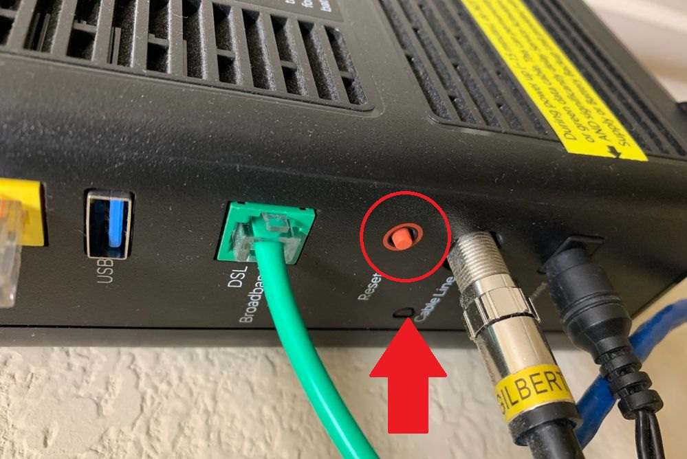 how to reset at& t router