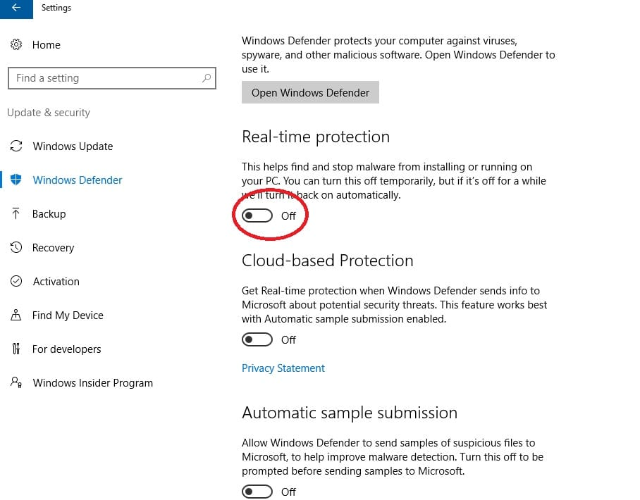 How to permanently disable Windows Defender Antivirus