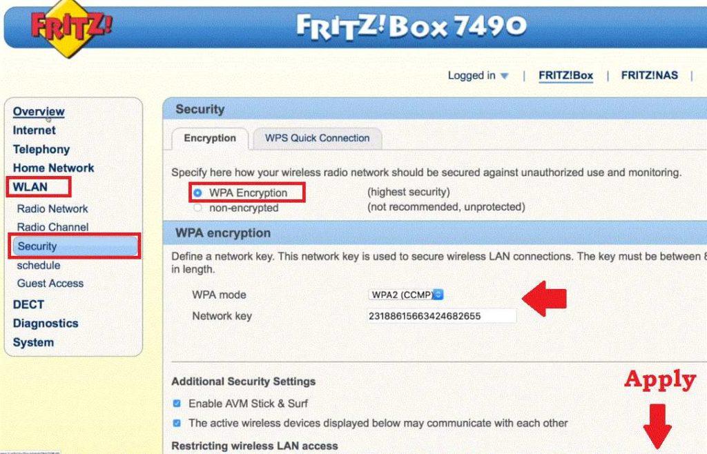 fritzbox 7360 192.169.1