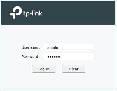 login tp-link vpn router