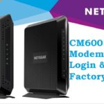login netgear cm600 cable mode