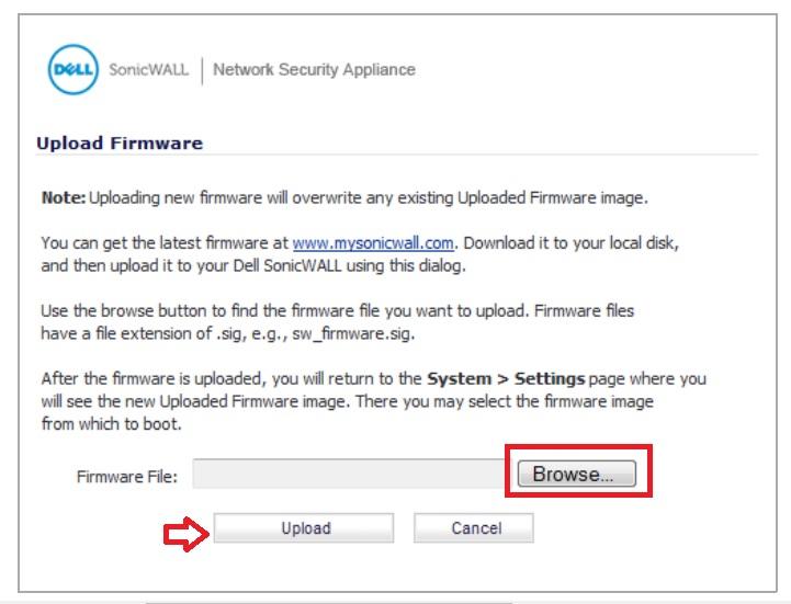 sonicwall tz100 firewall upgrade