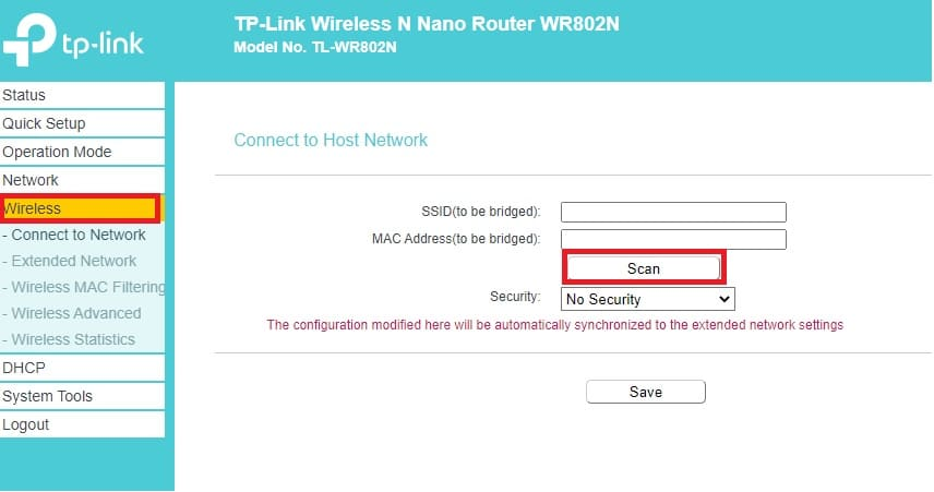 tp link nano router repeater mode